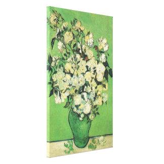 静物画-つぼのピンクのバラ、ヴィンチェンツォvan Gog キャンバスプリント