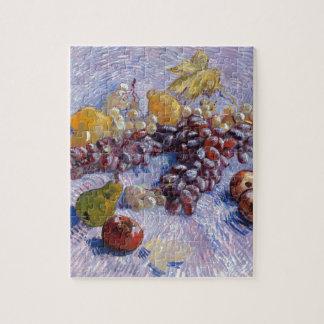 静物画: りんご、ナシ、ブドウ-ゴッホ ジグソーパズル