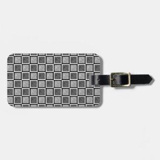 静的な白黒正方形 ラゲッジタグ