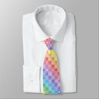 静的な虹の正方形 ネクタイ