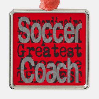 非凡なサッカーのコーチ メタルオーナメント