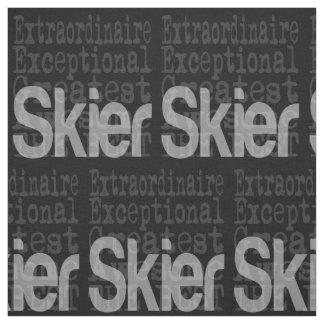 非凡なスキーヤー ファブリック