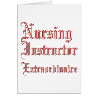 非凡な看護のインストラクター- カード