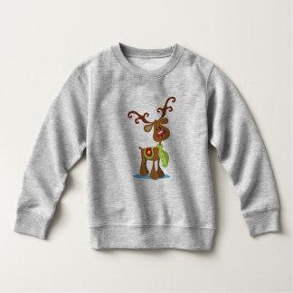 非常にかわいいトナカイのクリスマス のスエットシャツ スウェットシャツ