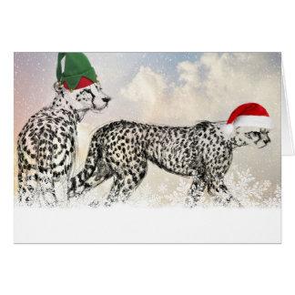 非常にチータのクリスマス カード