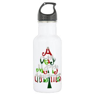 非常にメリークリスマスの木 ウォーターボトル
