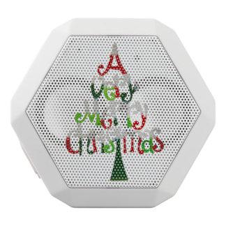 非常にメリークリスマスの木 ホワイトBluetoothスピーカー