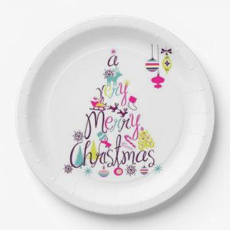 非常にメリークリスマスの紙皿 ペーパープレート