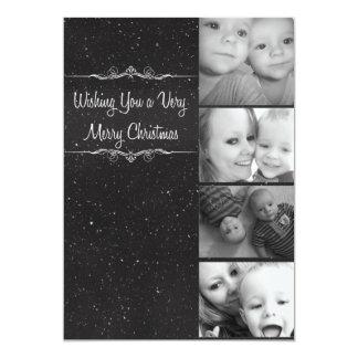 非常にメリークリスマスの雪の写真カード カード