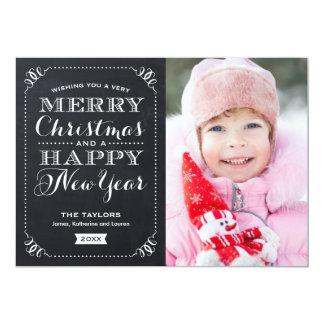 非常にメリークリスマスの黒板の休日の写真カード 12.7 X 17.8 インビテーションカード