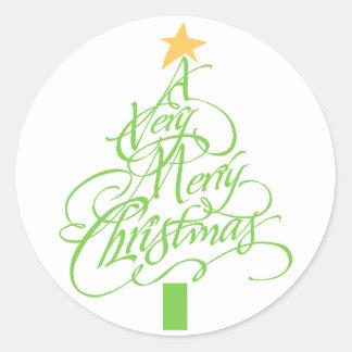 非常にメリークリスマス ラウンドシール