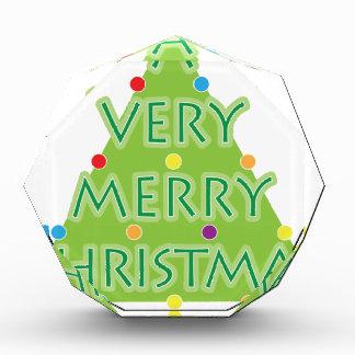 非常にメリークリスマス 表彰盾