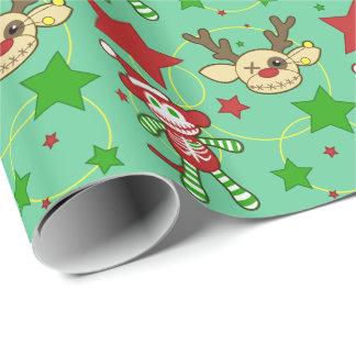 非常に不気味なクリスマスのギフト用包装紙 ラッピングペーパー