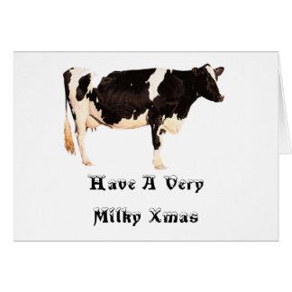 非常に乳白色のクリスマスを持って下さい カード