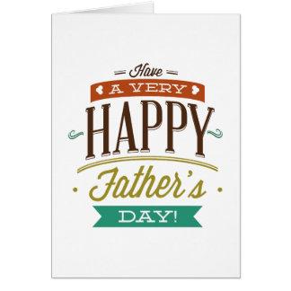 非常に幸せな父の日を過して下さい グリーティングカード
