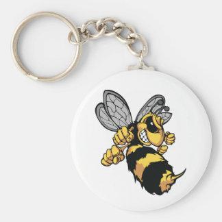 非常に怒っている蜂Keychain キーホルダー