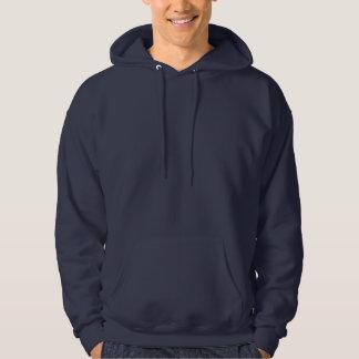 非常に明白な海軍>Mensのフード付きのスエットシャツ パーカ