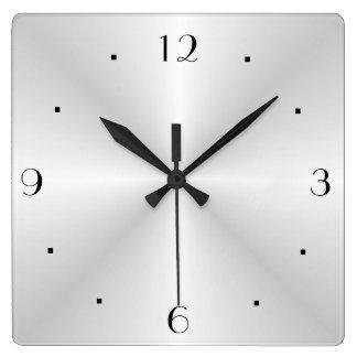 非常に明白な銀>柱時計 スクエア壁時計