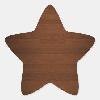 非常に暗く堅い木製の床の穀物 星型シール