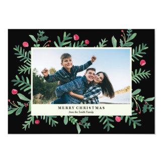 非常に果実のメリークリスマスの水彩画|のクリスマス カード