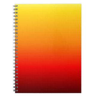 非常に熱いオレンジ ノートブック