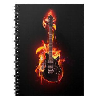 非常に熱いギターのノート ノートブック