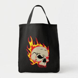 非常に熱いスカルのバッグ トートバッグ