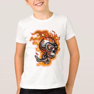 非常に熱いスカル Tシャツ