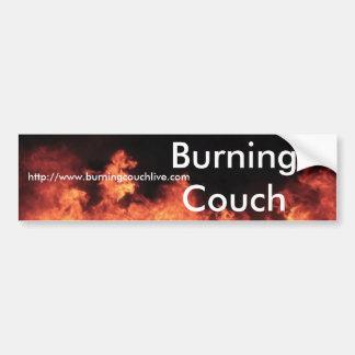 非常に熱いソファの炎のバンパーステッカー バンパーステッカー