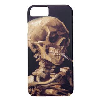 非常に熱いタバコが付いているゴッホのスカル iPhone 8/7ケース
