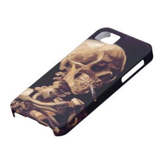 非常に熱いタバコが付いているゴッホのスカル iPhone SE/5/5s ケース