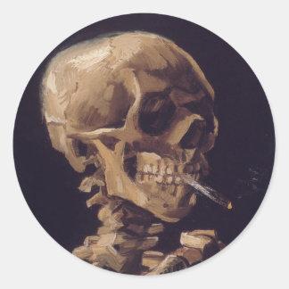 非常に熱いタバコが付いているスカル-フィンセント・ファン・ゴッホ ラウンドシール