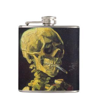 非常に熱いタバコが付いているフィンセント・ファン・ゴッホのスカル フラスク