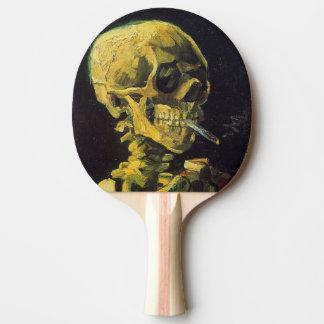 非常に熱いタバコが付いているフィンセント・ファン・ゴッホのスカル 卓球ラケット