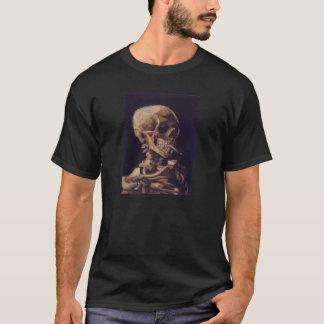 非常に熱いタバコが付いているフィンセント・ファン・ゴッホのスカル Tシャツ