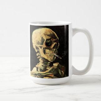 非常に熱いタバコのマグが付いているゴッホのスカル コーヒーマグカップ