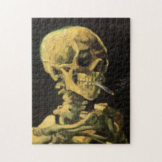 非常に熱いタバコ、ヴィンテージの芸術が付いているゴッホのスカル ジグソーパズル
