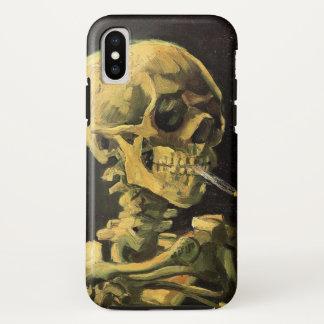 非常に熱いタバコ、ヴィンテージの芸術が付いているゴッホのスカル iPhone X ケース