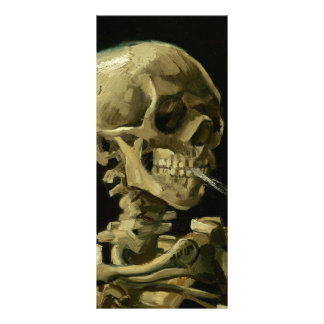 非常に熱いタバコ| 1886年が付いているゴッホ|のスカル ラックカード