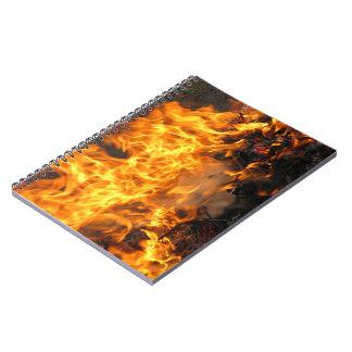非常に熱いブラシ ノートブック