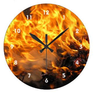 非常に熱いブラシ ラージ壁時計