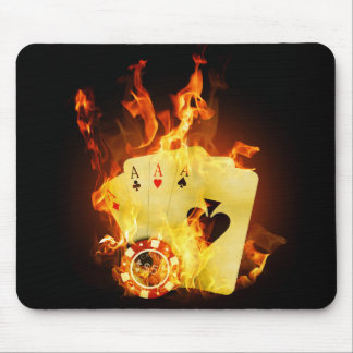 非常に熱いポーカーカードのマウスパッド マウスパッド