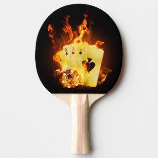 非常に熱いポーカーカードの卓球ラケット 卓球ラケット