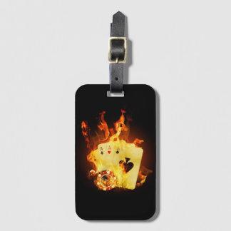 非常に熱いポーカーカードの荷物のラベル ラゲッジタグ