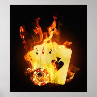 非常に熱いポーカーカードポスター ポスター