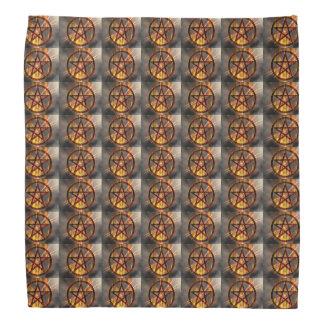 非常に熱い五芒星パターン バンダナ