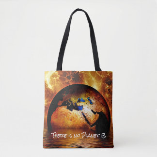 """""""非常に熱い地球が付いている惑星B""""がありません トートバッグ"""