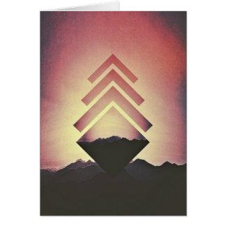 非常に熱い山の景色 カード