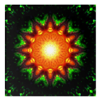 非常に熱い星形エネルギー中心 アクリルウォールアート