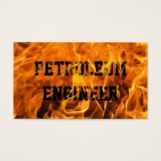 非常に熱い火の石油エンジニアの名刺 名刺
